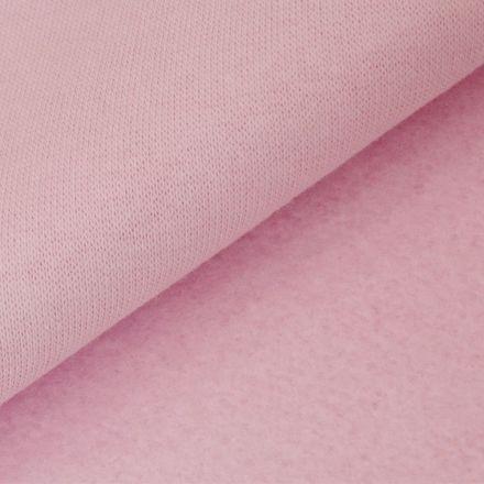Tissu Molleton Sweat uni Rose bébé x10cm