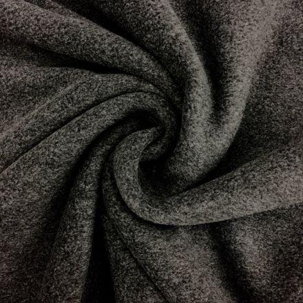 Tissu Polaire uni Gris anthracite chiné - Par 10 cm