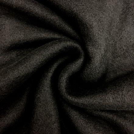 Tissu Polaire uni Noir - Par 10 cm