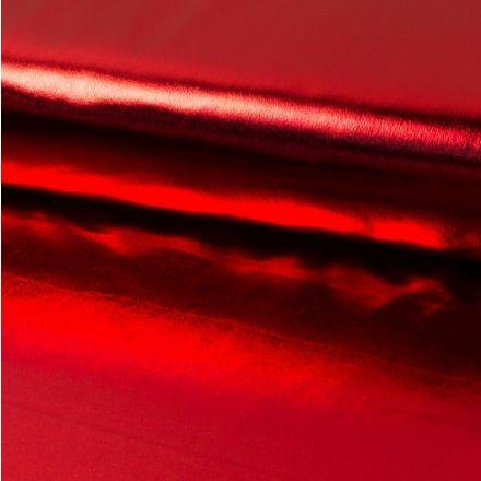 Tissu Lamé brillant Rouge - Par 10 cm