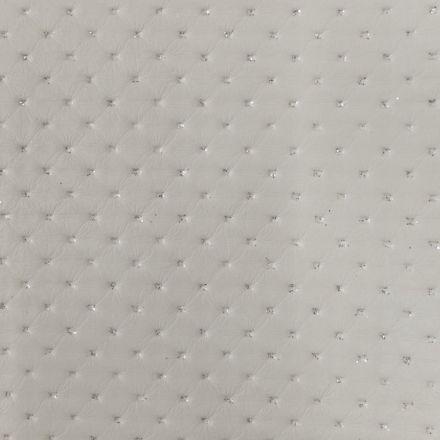 Simili cuir Strass Blanc - Par 50 cm