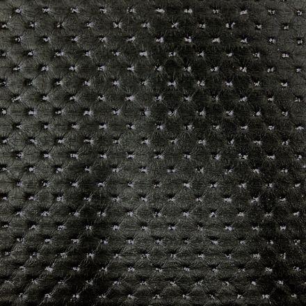 Simili cuir Strass Noir - Par 50 cm
