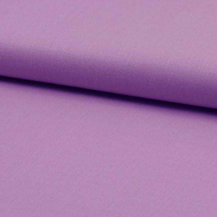 Tissu Coton uni Violet clair - Par 10 cm