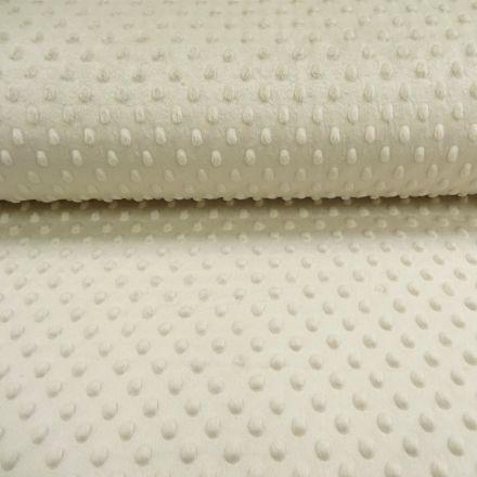 Tissu Minky Ultra doux Pois Sable - Par 10 cm