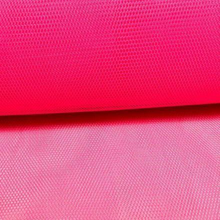 Tissu Tulle Rigide Rose Fluo - Au mètre