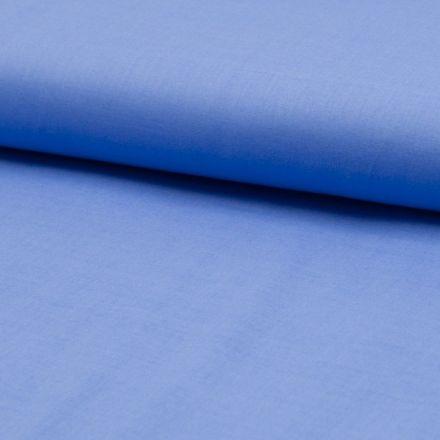 Tissu Voile de coton uni Bleu - Par 10 cm
