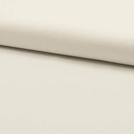 Tissu Voile de coton uni Ecru - Par 10 cm