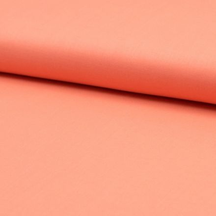 Tissu Voile de coton uni Pêche - Par 10 cm