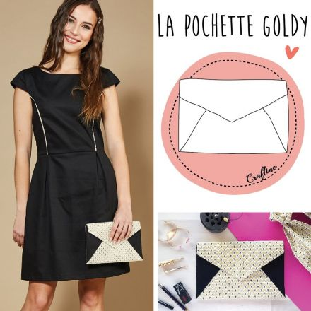 Kit Couture Craftine Pochette Goldy