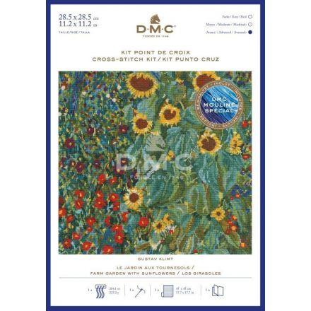 Kit Broderie Point de croix DMC Le Jardin aux Tournesols 28,5 x 28,5 cm