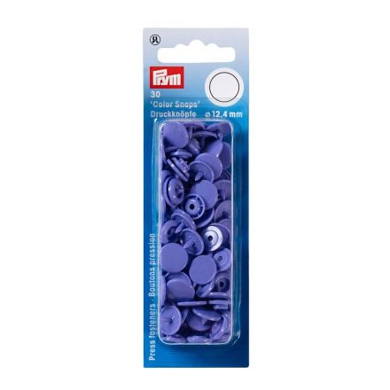 Prym 30 Boutons pression Color Snaps lilas 12,4 mm