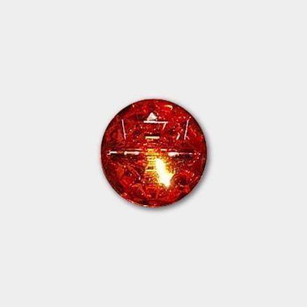 Bouton Imitation Cristal pied 18 mm Rouge