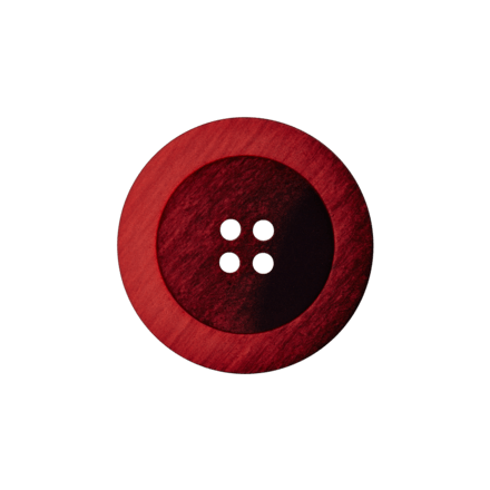 Bouton Polyester 4 trous Rouge - 2 Tailles