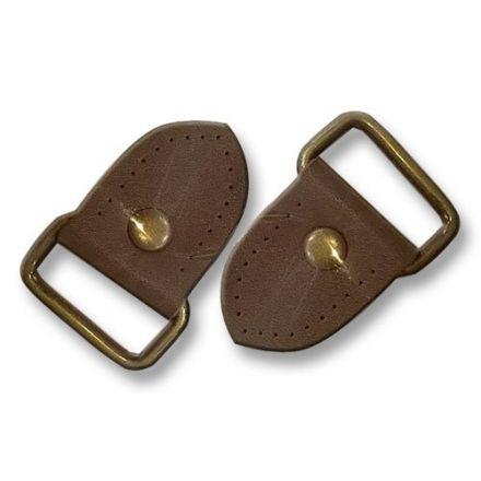 Fermeture en cuir avec boucle en métal Marron