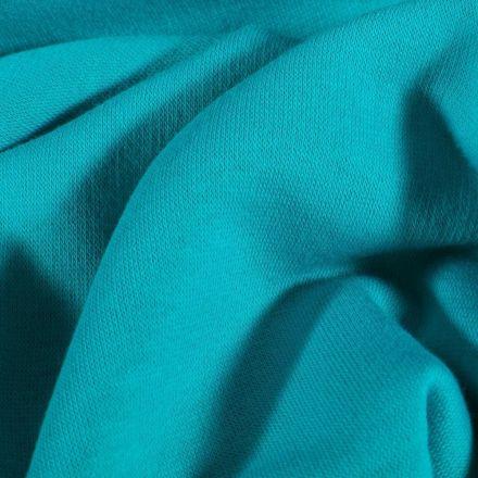 Tissu Molleton Sweat uni Bleu pétrole - Par 10 cm