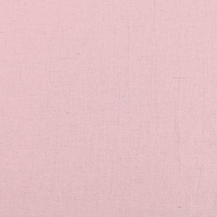 Tissu Lin Viscose léger uni Rose clair - Par 10 cm