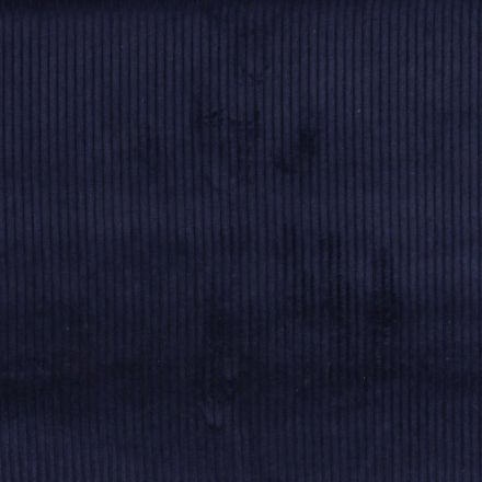 Tissu Velours Grosses côtes Bleu marine x10cm
