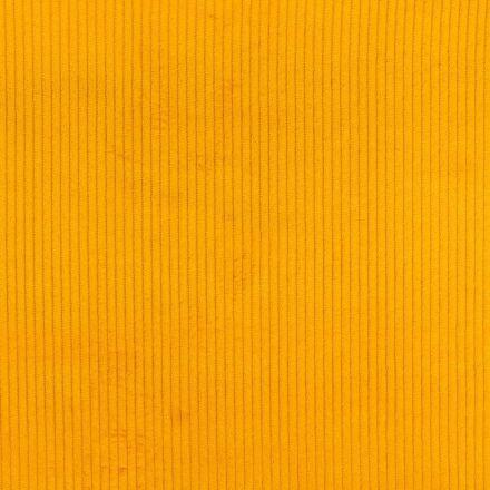 Tissu Velours Grosses côtes Jaune x10cm