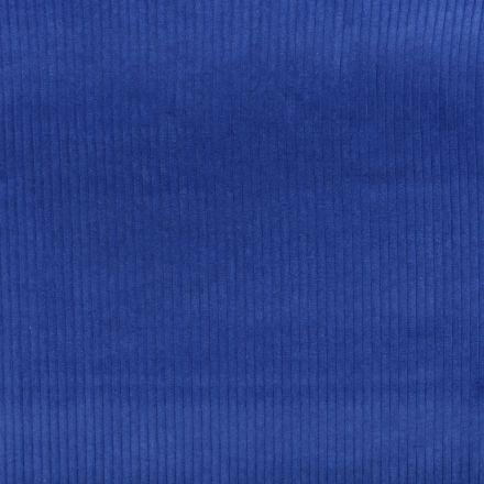 Tissu Velours Grosses côtes Bleu nuit x10cm