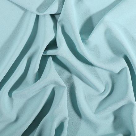 Tissu Crêpe Georgette Bleu céladon - Par 10 cm