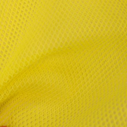 Tissu Filet Vrac mesh Jaune fluo - Par 10 cm