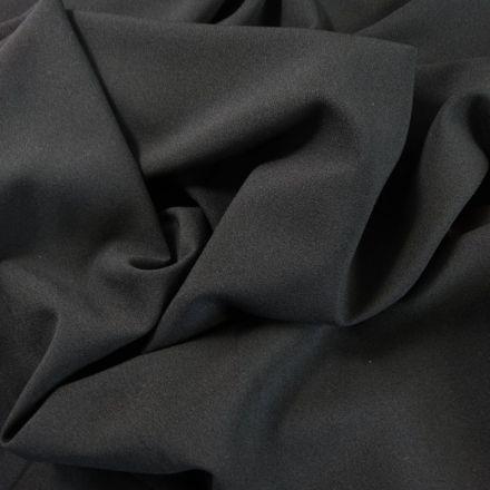 Tissu Crêpe Georgette Noir x10cm