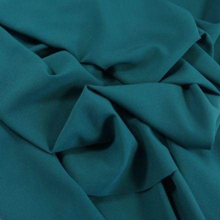 Tissu Crêpe Georgette Bleu pétrole x10cm