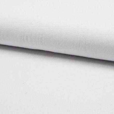 Tissu Coton lavé Uni Blanc - Par 10 cm