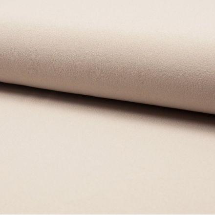 Tissu Crêpe Scuba Uni Beige - Par 10 cm