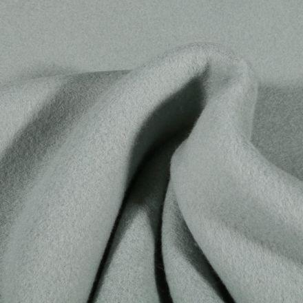 Tissu Polaire Coton Bio uni Vert d'eau - Par 10 cm