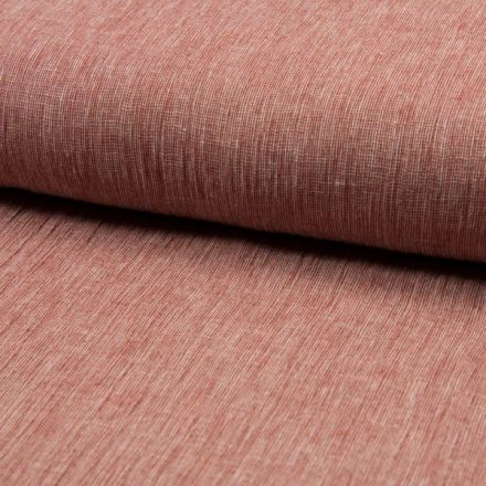 Tissu Lin Coton tissage étamine Terracotta - Par 10 cm