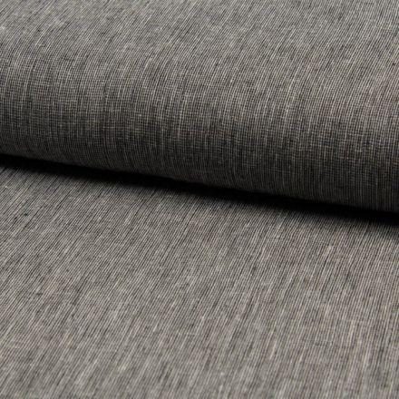 Tissu Lin Coton tissage étamine Noir - Par 10 cm