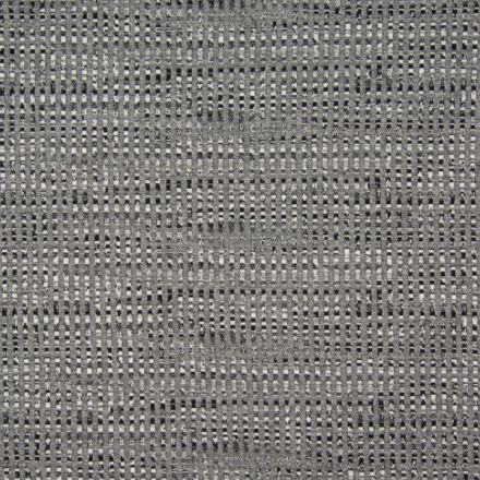 Tissu Jersey Jacquard  Rayures pointillés sur fond Gris clair - Par 10 cm