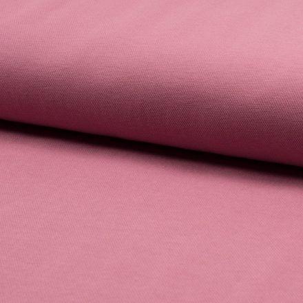 Tissu Jersey Piqué de coton spécial Polo Vieux rose - Par 10 cm