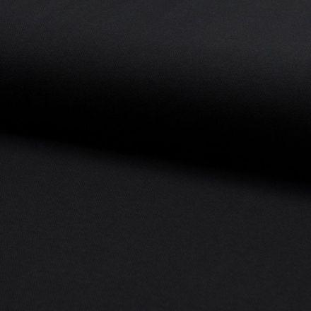 Tissu Jersey Piqué de coton spécial Polo Noir - Par 10 cm