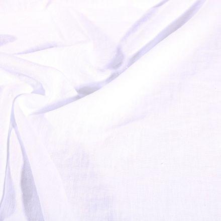 Tissu Lin lavé d'ameublement Blanc - Par 10 cm
