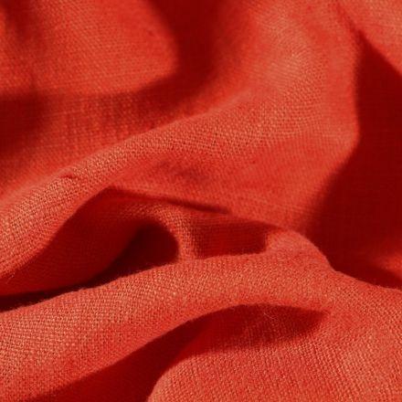 Tissu Lin lavé d'ameublement Brique - Par 10 cm