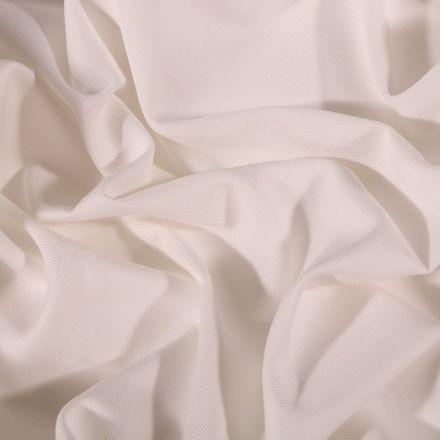 Tissu Coton Sergé uni Blanc cassé - Par 10 cm
