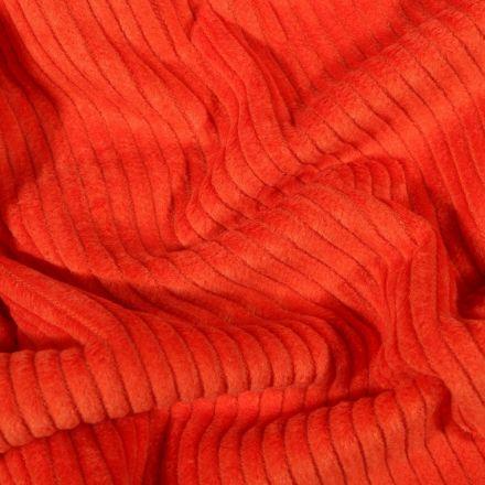 Tissu Velours côtelé uni Orange - Par 10 cm