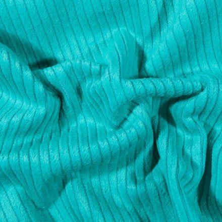 Tissu Velours côtelé uni Bleu lagon - Par 10 cm