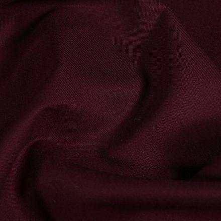 Tissu Coton Satiné extensible Prune - Par 10 cm