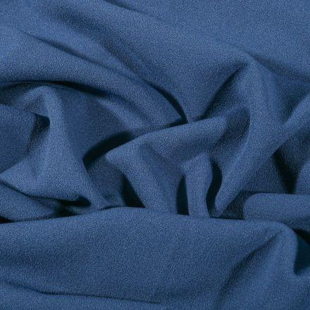 Tissu Crêpe Scuba extensible uni Bleu jean - Par 10 cm