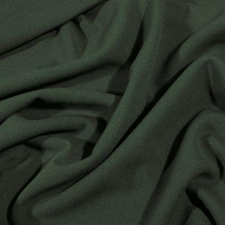 Tissu Crêpe Scuba extensible uni Vert kaki - Par 10 cm