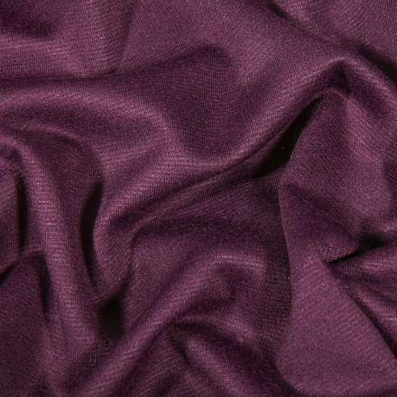 Tissu Jersey Milano uni Prune - Par 10 cm