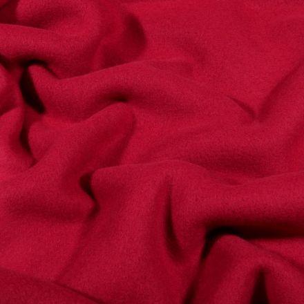 Tissu Polaire Coton uni  Bordeaux - Par 10 cm