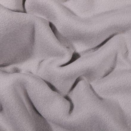 Tissu Polaire Coton uni  Gris acier - Par 10 cm