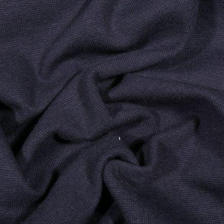 Tissu Bord côte uni Bio Bleu marine - Par 10 cm
