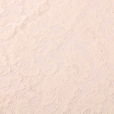 Tissu Dentelle Laura Ecru - Par 10 cm