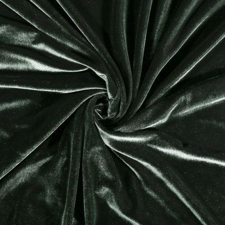 Tissu Velours jersey épais Vert sapin - Par 10 cm