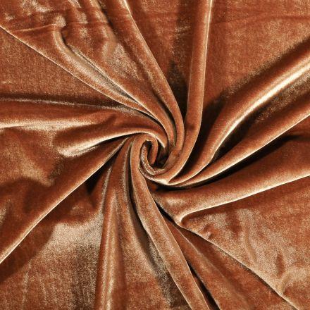 Tissu Velours jersey épais Moutarde - Par 10 cm
